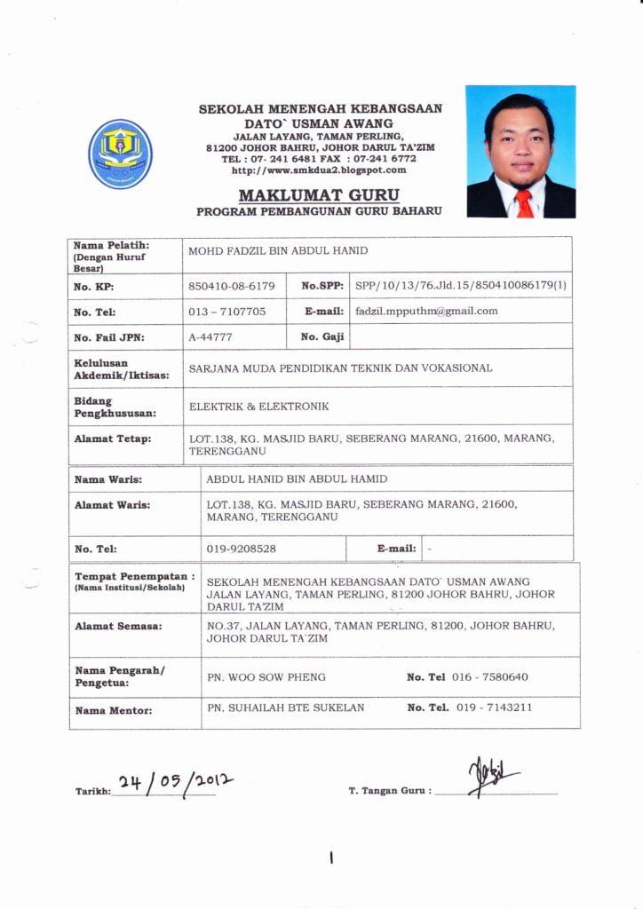 Laporan Program Pembangunan Guru Baharu Ppgb Mohd Fadzil